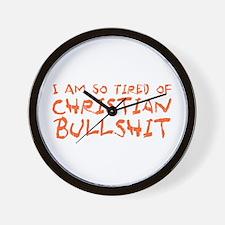 Christian Bullshit Wall Clock