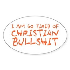 Christian Bullshit Decal