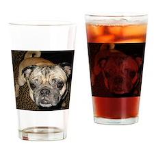 Pug Home Drinking Glass