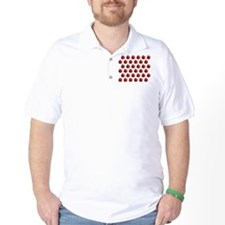 Red Apple Fruit Pattern T-Shirt