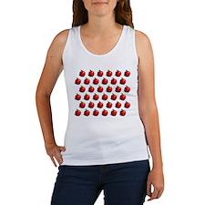 Red Apple Fruit Pattern Women's Tank Top