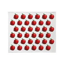Red Apple Fruit Pattern Throw Blanket