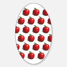 Red Apple Fruit Pattern Decal