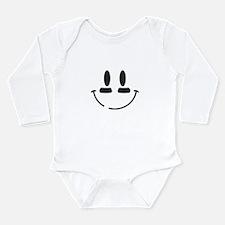 Football Smiley Long Sleeve Infant Bodysuit