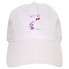 Pink Bird and Love Notes-lettered Baseball Cap