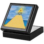 Masonic Eye, Pyamid & S&C Keepsake Box