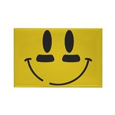 Football Smiley Rectangle Magnet