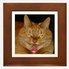 Psycho Kitty Framed Tile