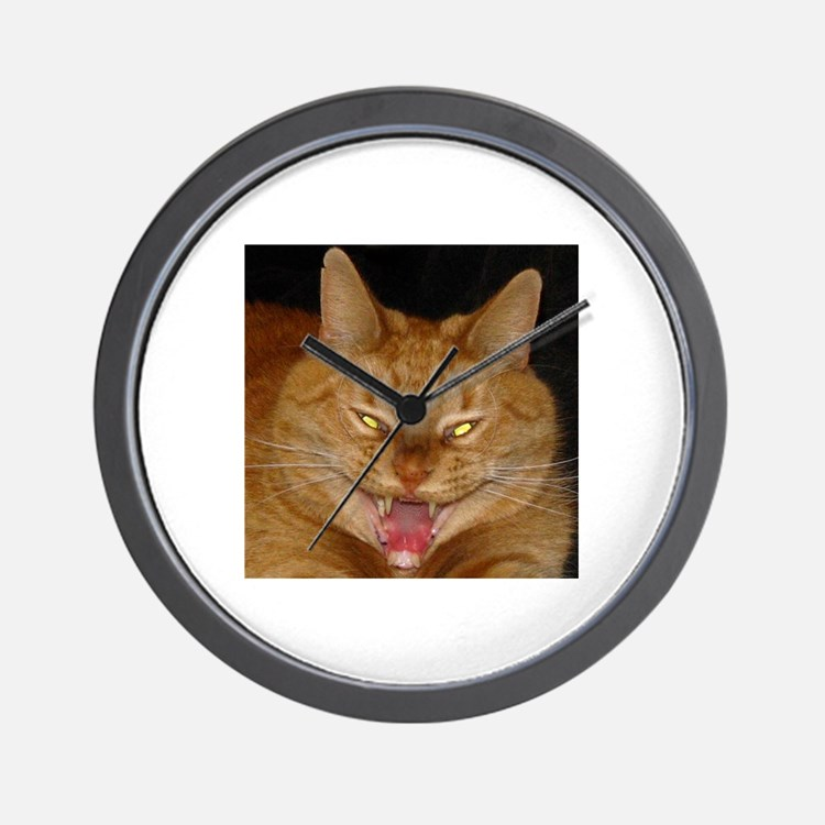 Psycho Kitty Wall Clock