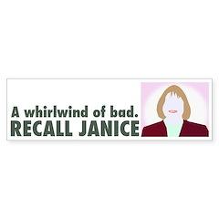 Bumper Sticker: Recall Janice - Whirlwind