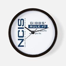 NCIS Gibbs' Rule #7 Wall Clock