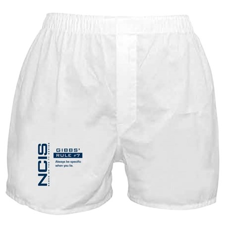 NCIS Gibbs' Rule #7 Boxer Shorts