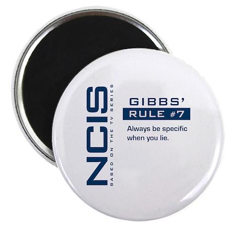 "NCIS Gibbs' Rule #7 2.25"" Magnet (10 pack)"
