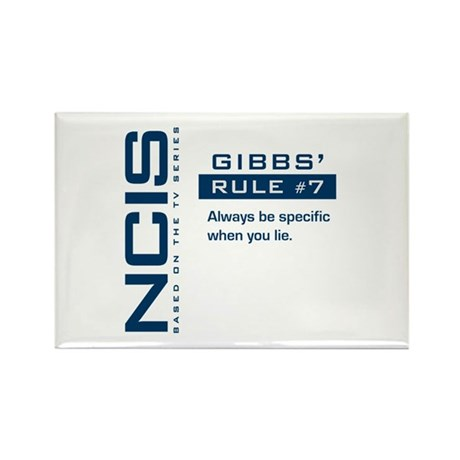 NCIS Gibbs' Rule #7 Rectangle Magnet