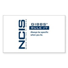 NCIS Gibbs' Rule #7 Decal