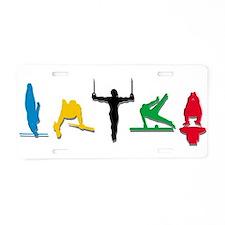 Men's Gymnastics Aluminum License Plate