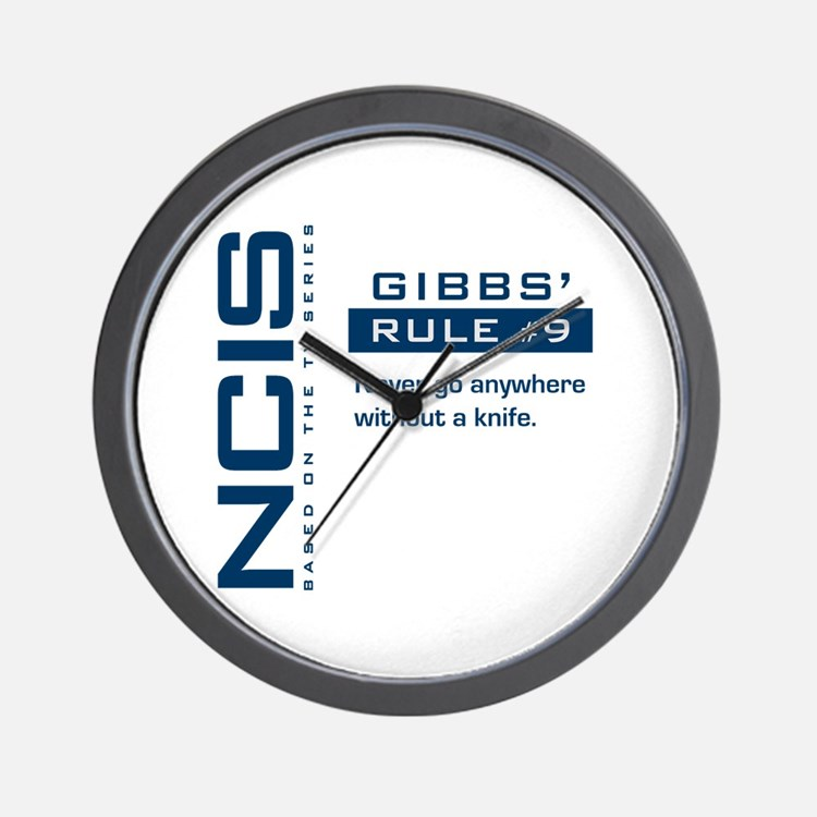 NCIS Gibbs' Rule #9 Wall Clock