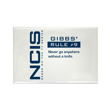 NCIS Gibbs' Rule #9 Rectangle Magnet (100 pack)