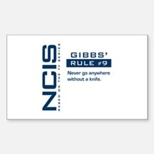 NCIS Gibbs' Rule #9 Sticker (Rectangle)