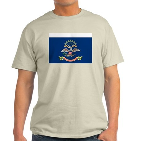 North Dakota State Flag Grey T-Shirt