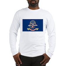 North Dakota State Flag White Long-Sleeve Shirt