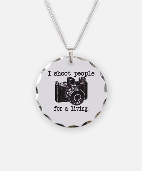 I Shoot People - Necklace Circle Charm