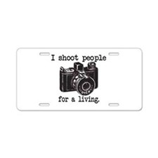 I Shoot People - Aluminum License Plate