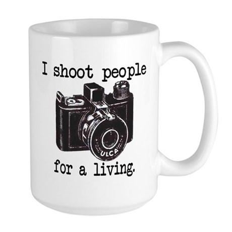 I Shoot People Large Mug