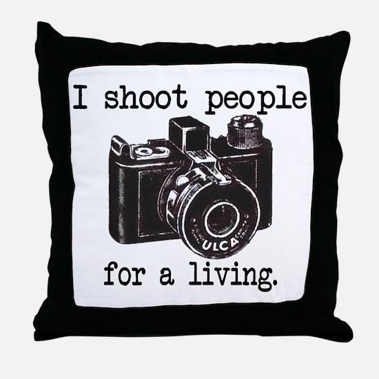 I Shoot People Throw Pillow