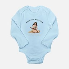Tropical Paradise Island Girl 2 Long Sleeve Infant