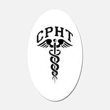 Pharmacy CPhT 22x14 Oval Wall Peel