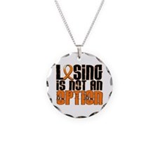 Losing Is Not An Option MS Necklace Circle Charm