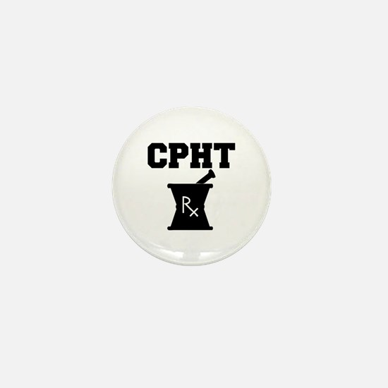 Pharmacy CPhT Rx Mini Button