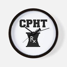 Pharmacy CPhT Rx Wall Clock