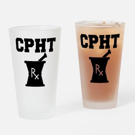 Pharmacy CPhT Rx Drinking Glass