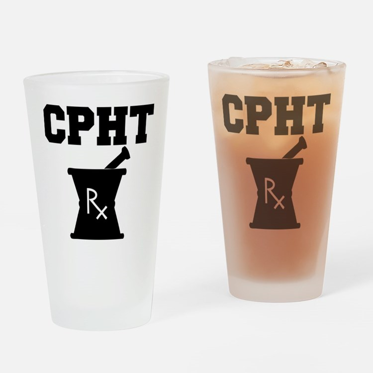 Pharmacy CPhT Rx Drinking Glass