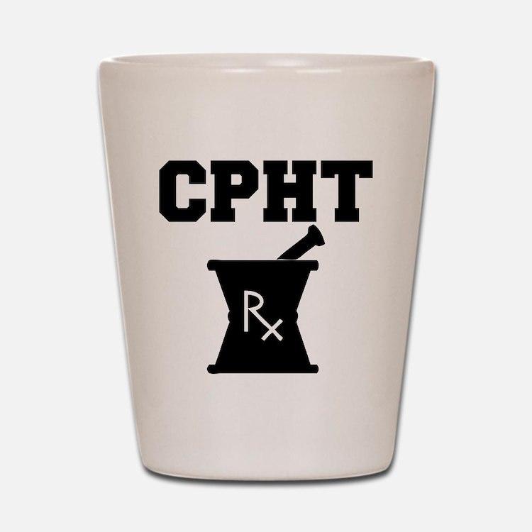 Pharmacy CPhT Rx Shot Glass