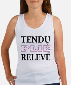 Tendu, Plie, Releve (Pink Design) Women's Tank Top