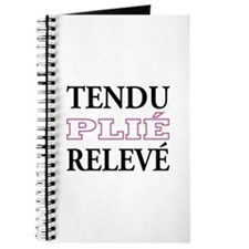 Tendu, Plie, Releve (Pink Design) Journal