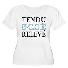 Tendu, Plie, Releve (Blue Design) T-Shirt
