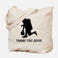 Tebowing - Thank You Jesus Tote Bag