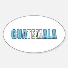 Guatemala Sticker (Oval)