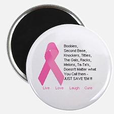 PinkRibbon Names Magnets