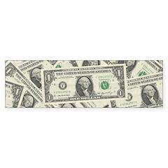 Dollar Bills Bumper Sticker