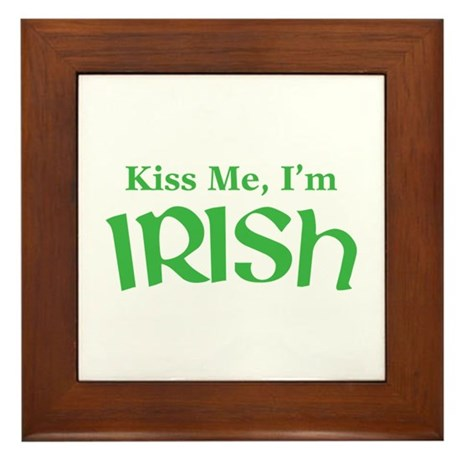 Kiss Me, I'm Irish Framed Tile