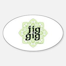 Jig Gig by DanceBay.com Sticker (Oval)