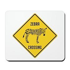 Zebra Crossing Sign Mousepad