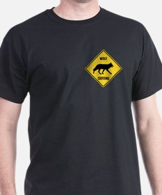 Wolf Crossing Sign T-Shirt
