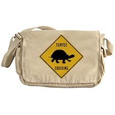 Turtle Crossing Sign Messenger Bag