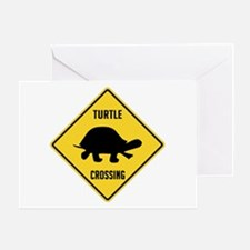 Turtle Crossing Sign Greeting Card